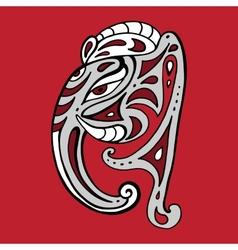 Elephant head Ganesha Hand drawn vector image vector image