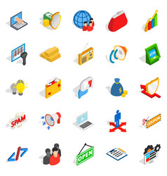 it icons set isometric style vector image