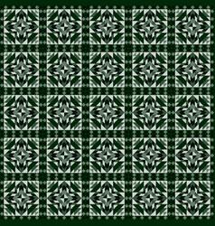 linoleum seamless pattern geometric mosaic vector image vector image