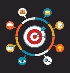 Flat design colorful concept for digital marketing vector image vector image