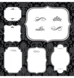 frames and black pattern vector image