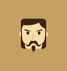 gentleman avatar portrait icon vector image