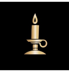 Grey paper magic candle vector image