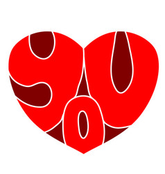 heart you3 vector image