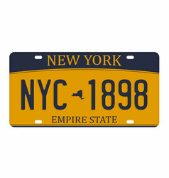 license plate isolated on white background new vector image