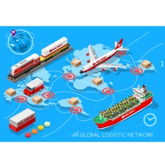 Logistic Icon 03 Vehicle Isometric vector image vector image