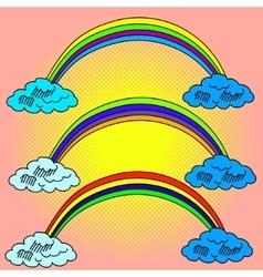 Rainbow Pop art vector image vector image