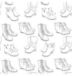 hand drawn sketch seamless pattern vector image vector image