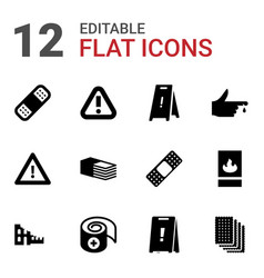 12 accident icons vector