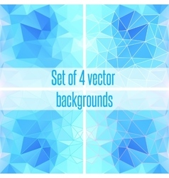 Abstract blue geometric triangular background vector image