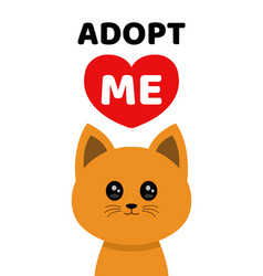 Adopt me dont buy cat pet adoption vector