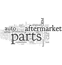 after market parts explained vector image