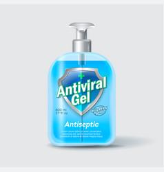 Antiseptic sanitizer label liquid medical cross vector