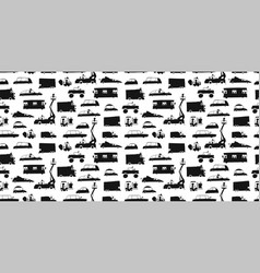 Batoy cars collection black silhouettes vector