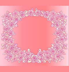 beautiful pink and vintage yellow frame vector image