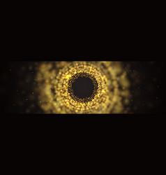 blur abstract dark background golden burst vector image