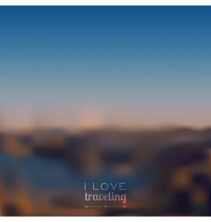 Blurred landscape background vector