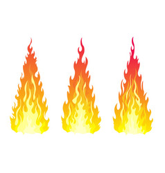 bonfire set design element vector image