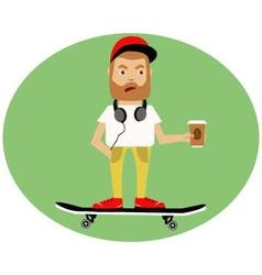 Boy on skateboard vector