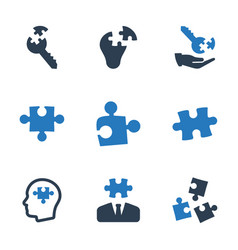 Business solution icons vector
