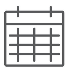 calendar line icon month and day date sign vector image