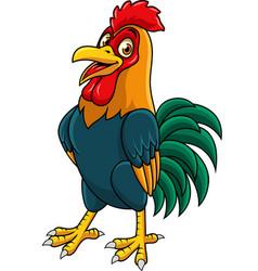 Cartoon rooster posing vector