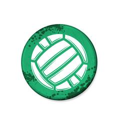 Circle green volleyball grunge board vector