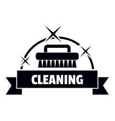 cleaning house logo simple black style vector image