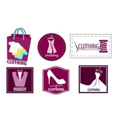 Clothing fashion icon set vector image
