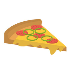 Delicious italian pizza icon vector