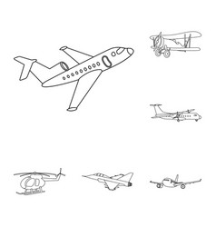 design of plane and transport sign vector image
