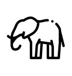 Elephant icon outline vector