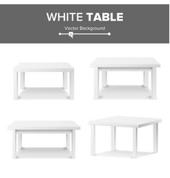 empty white plastic table set isolated on white vector image