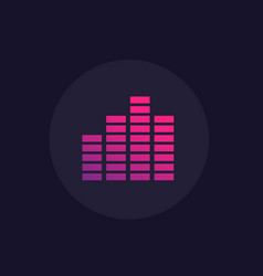 eq equalizer icon vector image