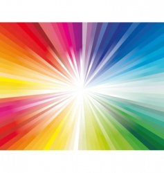explosion of rainbow ray lights vector image