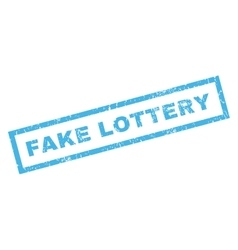 Fake Lottery Rubber Stamp vector