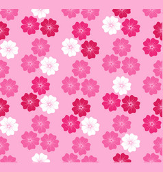 Floral blossom seamless pattern background vector