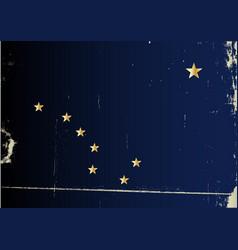 Grunge flag alaska vector