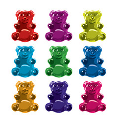 Gummy bear candies vector
