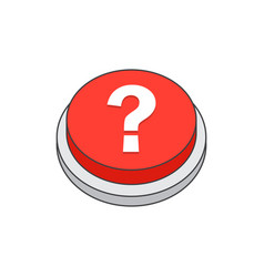 help button question sign icon vector image
