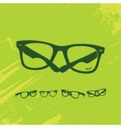 hip glasses series vector image