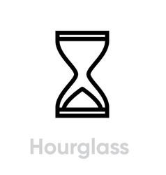 hourglass icon editable line vector image