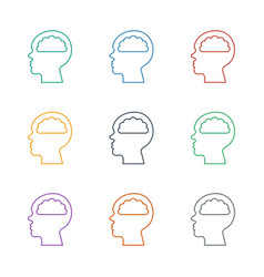 Human brain icon white background vector