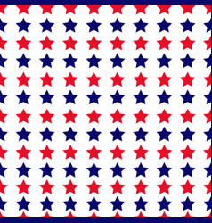 independence day seamless pattern with stars vector image