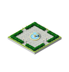isometric city park vector image