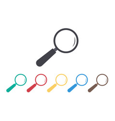magnify glass icon lupe for look search loupe vector image