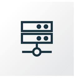 Media server outline symbol premium quality vector