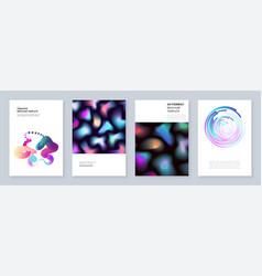minimal brochure templates with dynamic fluid vector image