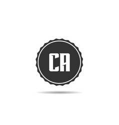 minimalist and modern letter ca logo template vector image
