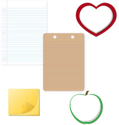 Notepad and Paper clipart vector image